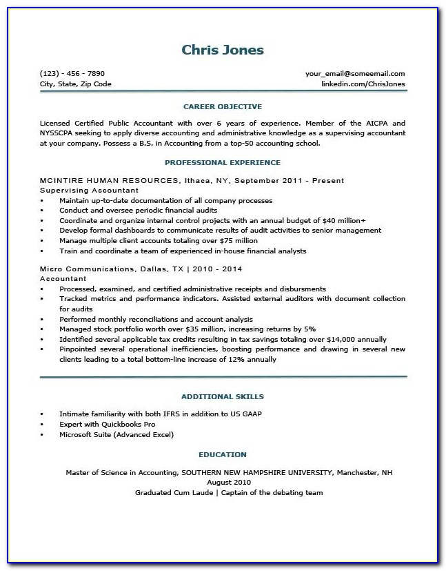 Free Resume Formats 2018