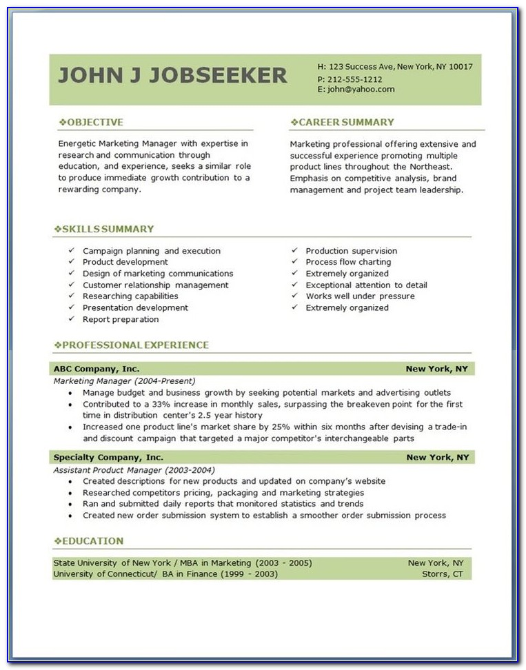 Free Resume Layout Design