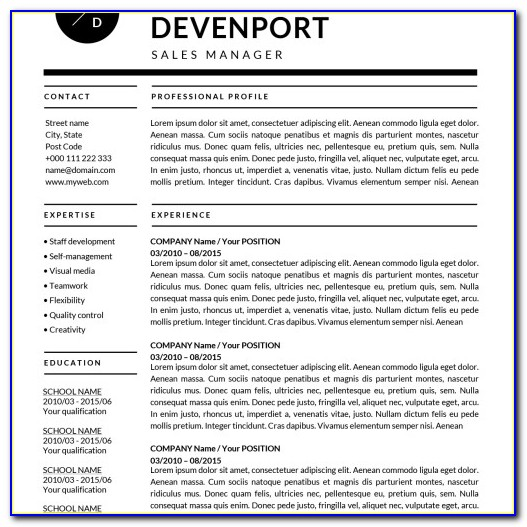 Free Resume Templates 2018 Pages