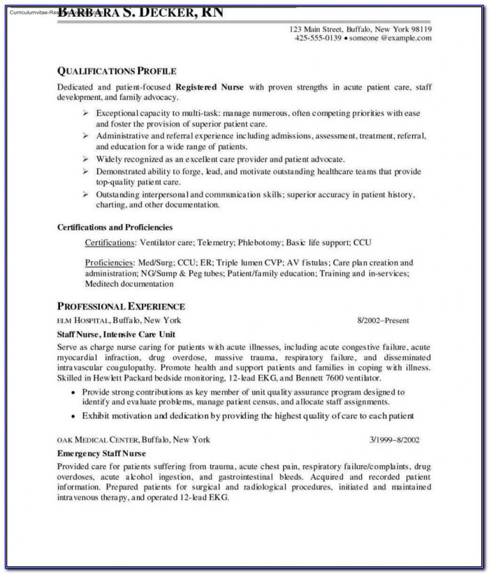 Nurse Resume Templates Free