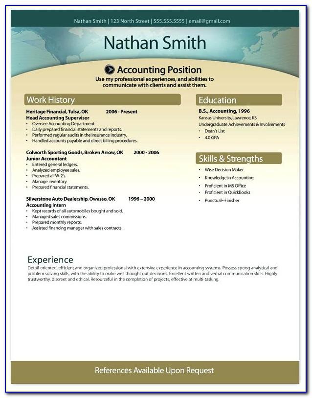 Free Stylish Resume Templates Doc