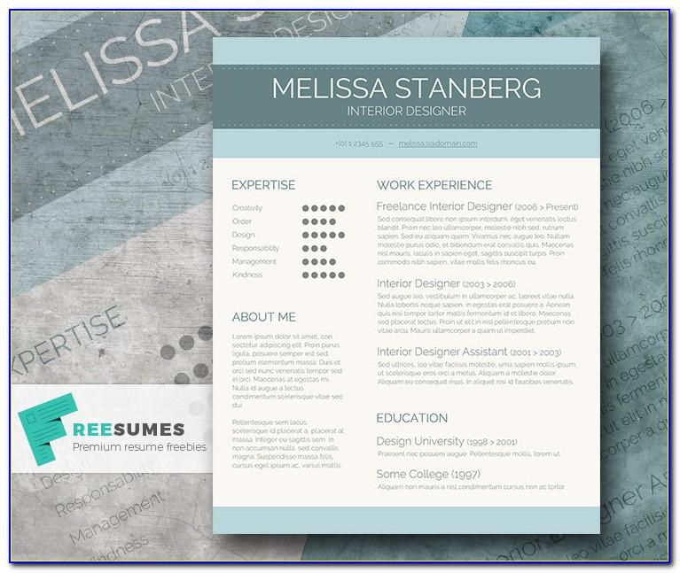 Free Stylish Resume Templates Download