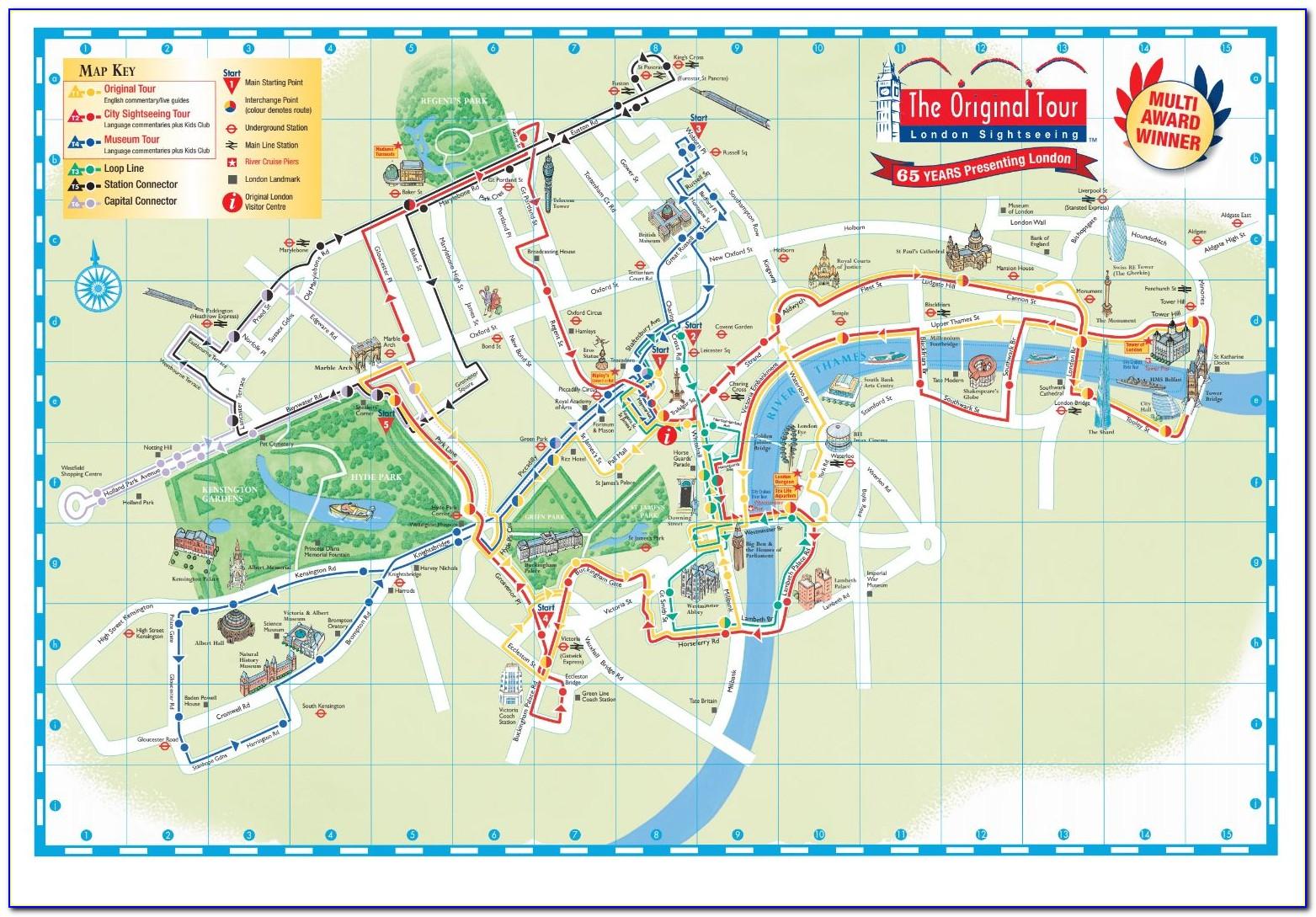 Funvee Hop On Hop Off Bus Singapore Map