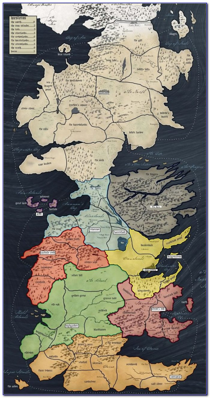 Game Of Thrones Beyond The Wall Map