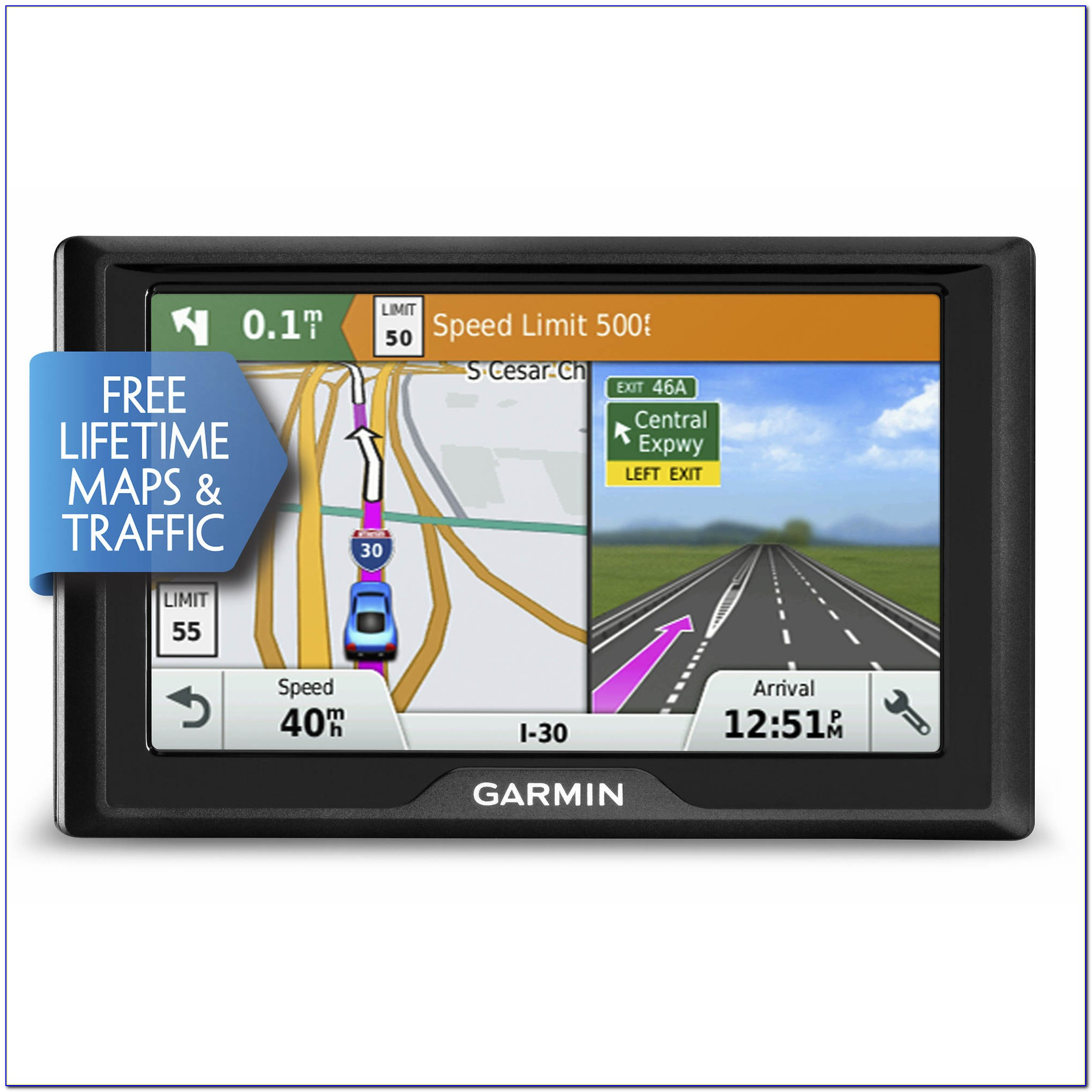 Garmin 5 Gps With Voice Command Lifetime Maps And Traffic