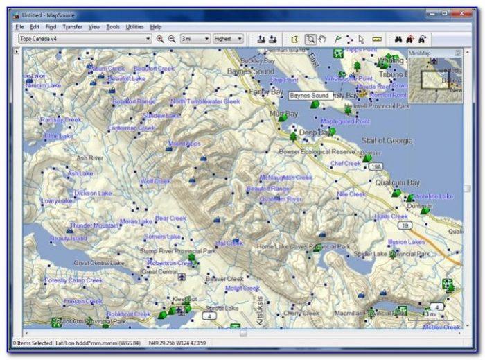 Garmin Gps Topo Maps Canada