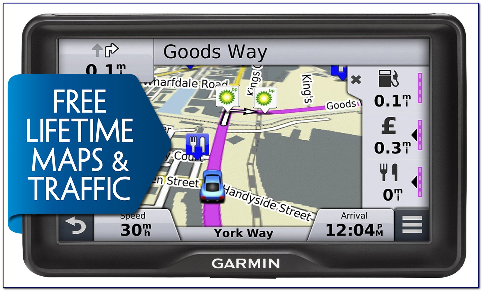 Garmin Nuvi 67lmt 6 Gps With Lifetime Maps And Traffic