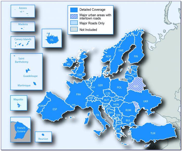 Garmin With Europe Maps Preloaded