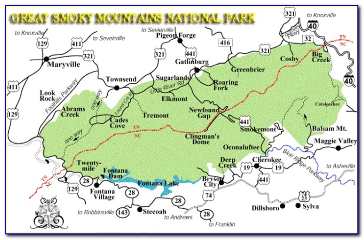 Geologic Map Of Great Smoky Mountains National Park