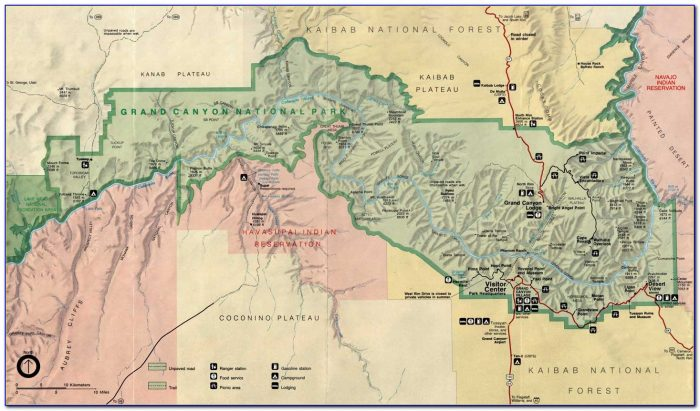Geological Map Of The Grand Canyon