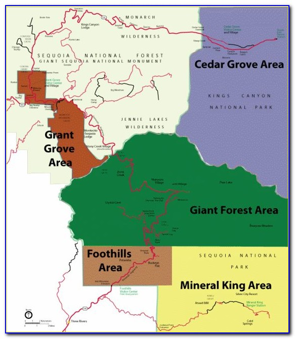 Giant Sequoia Location Map