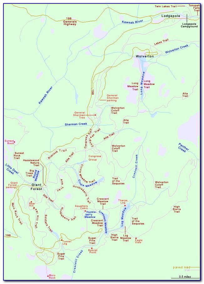 Giant Sequoia Map California