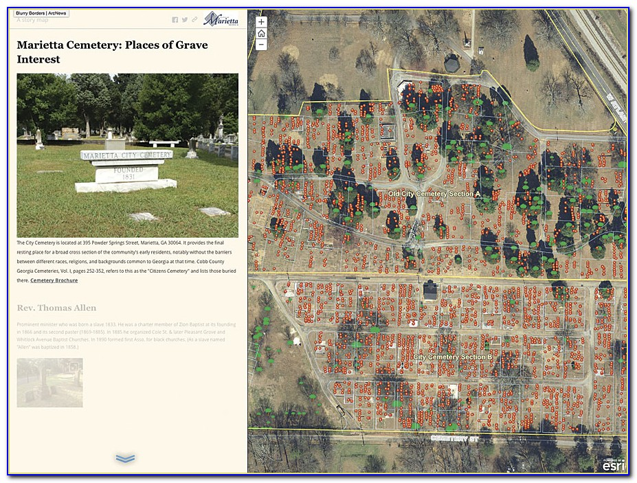 Gis Cemetery Mapping