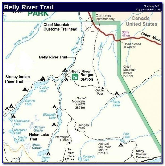 Glacier Bay National Park Trail Map