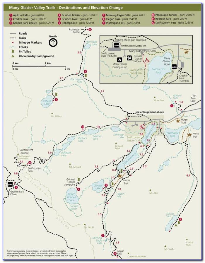 Glacier National Park Backpacking Map