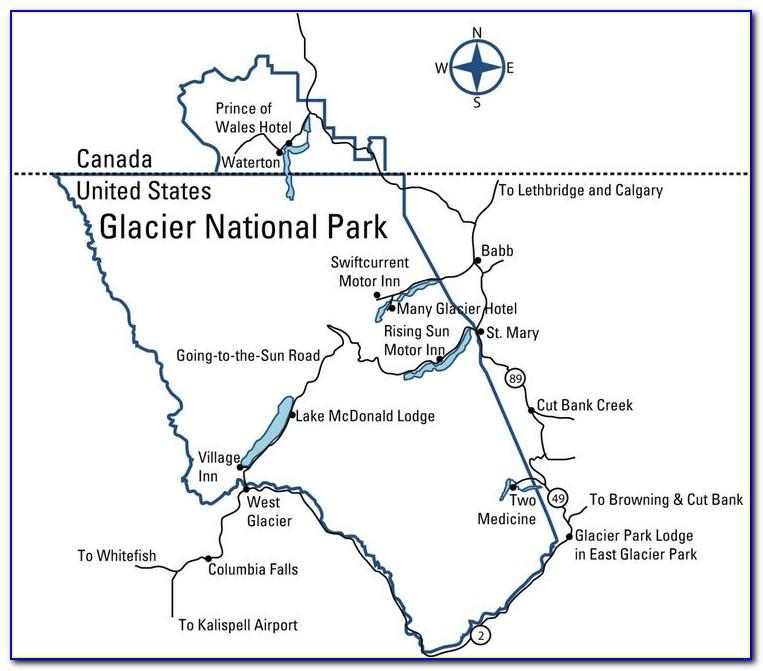Glacier National Park Bc Trail Map