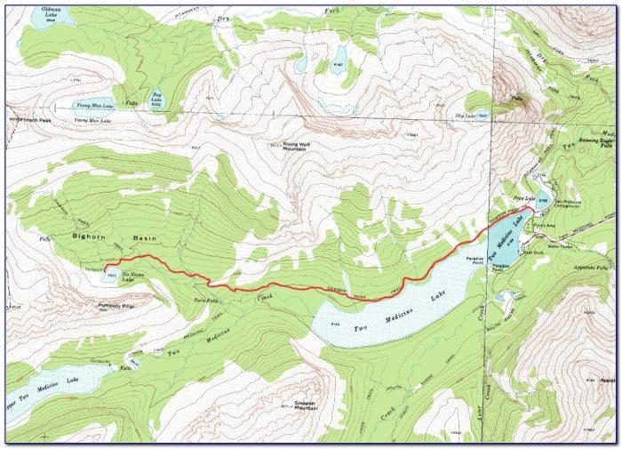 Glacier National Park Canada Topographic Map