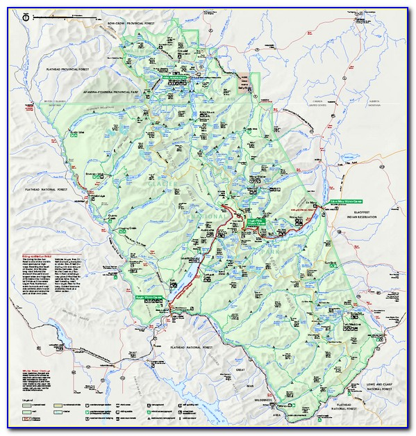 Glacier National Park Day Hikes Map