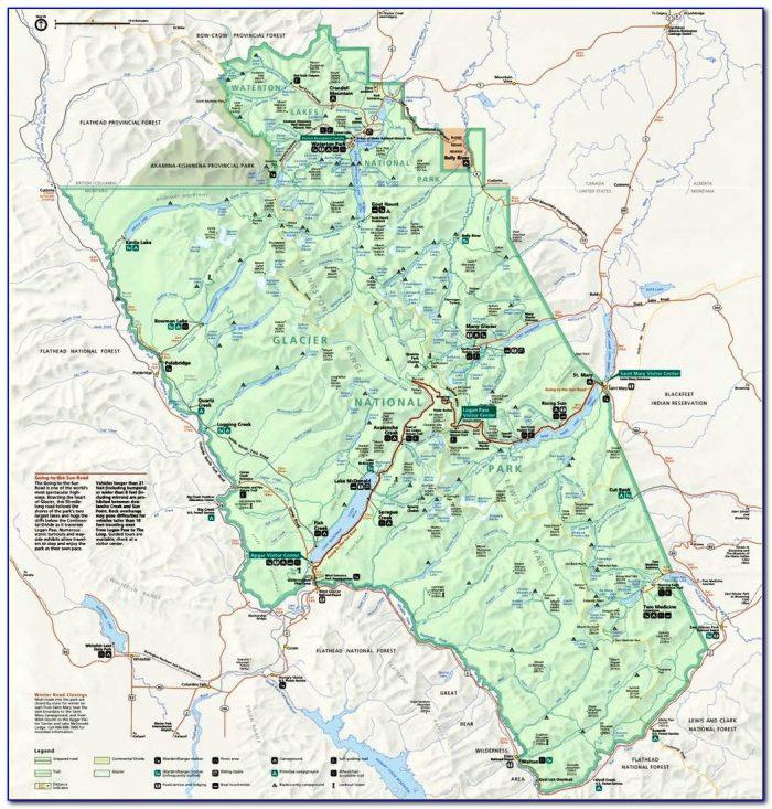 Glacier National Park Hidden Lake Trail Map