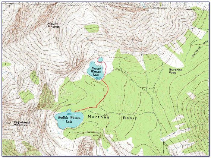Glacier National Park Topo Map