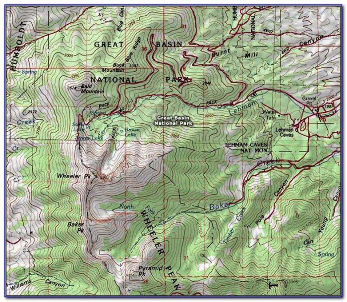 Glacier National Park Topographic Map