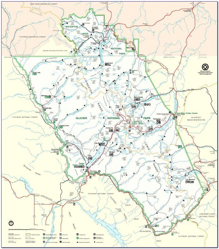 Glacier National Park Trail Maps