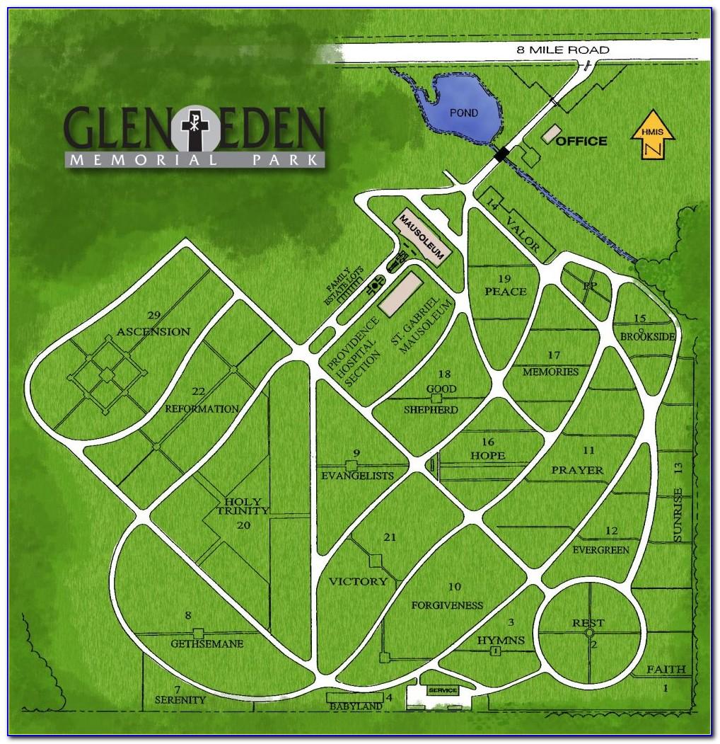 Glen Eden Cemetery Map