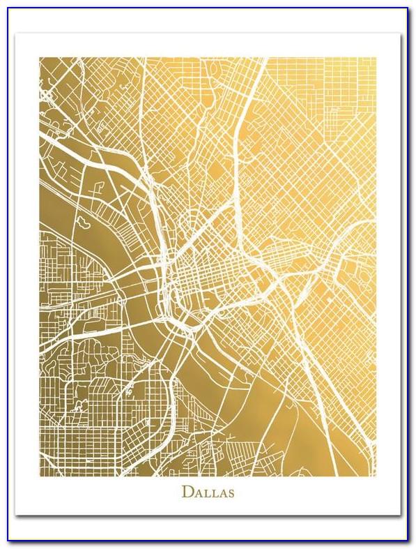 Gold Foil City Maps