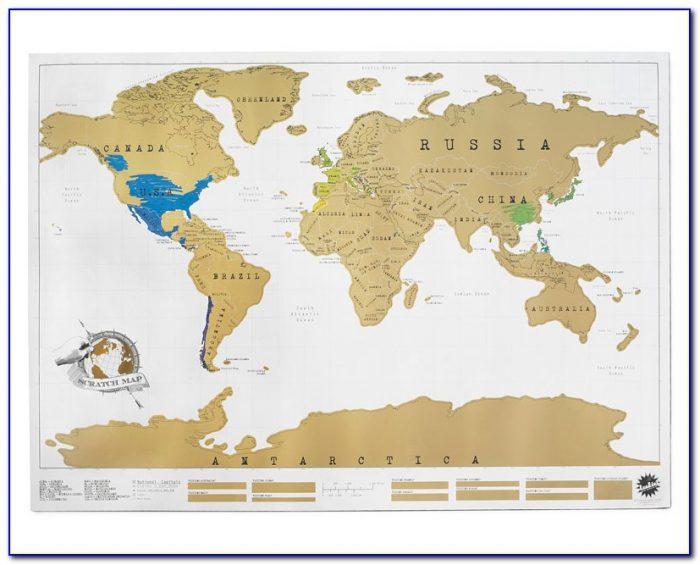 Gold Map Scratch Off
