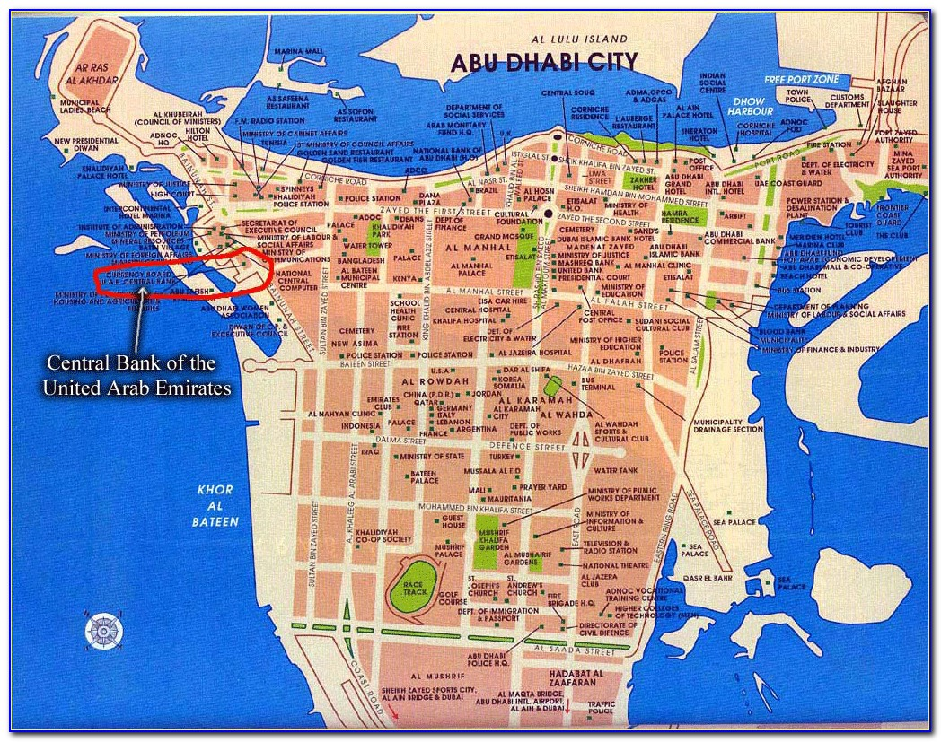Google Map Abu Dhabi Hotels