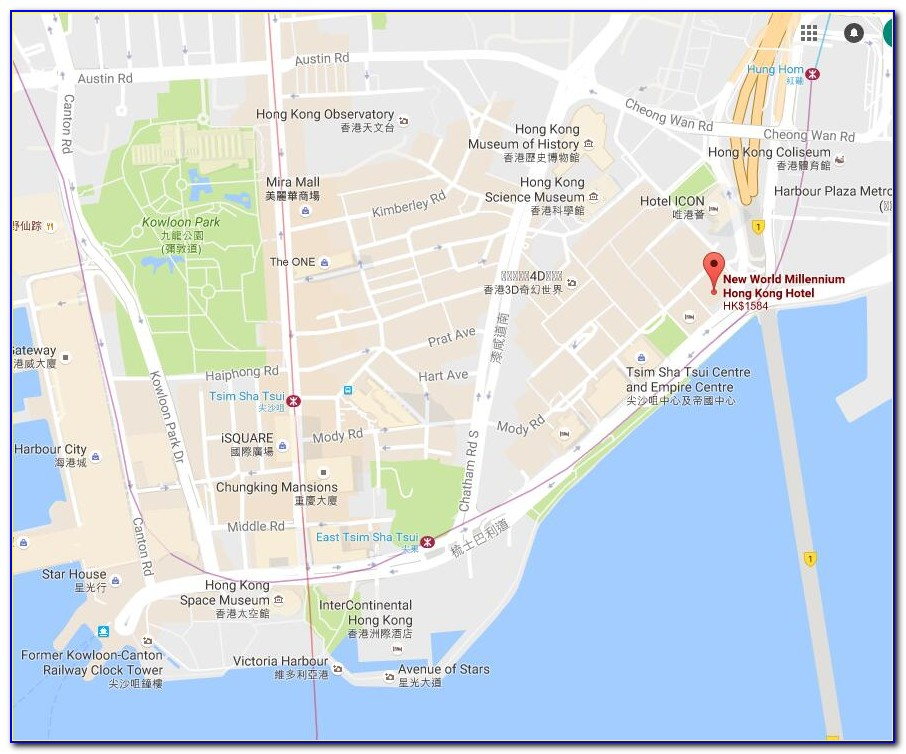 Google Map City Garden Hotel Hong Kong