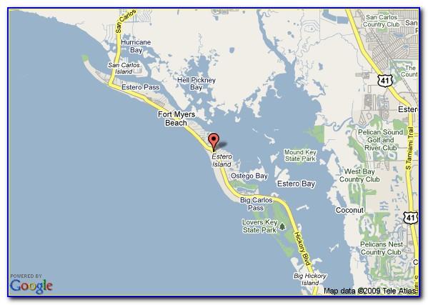 Google Map Fort Myers Beach Florida
