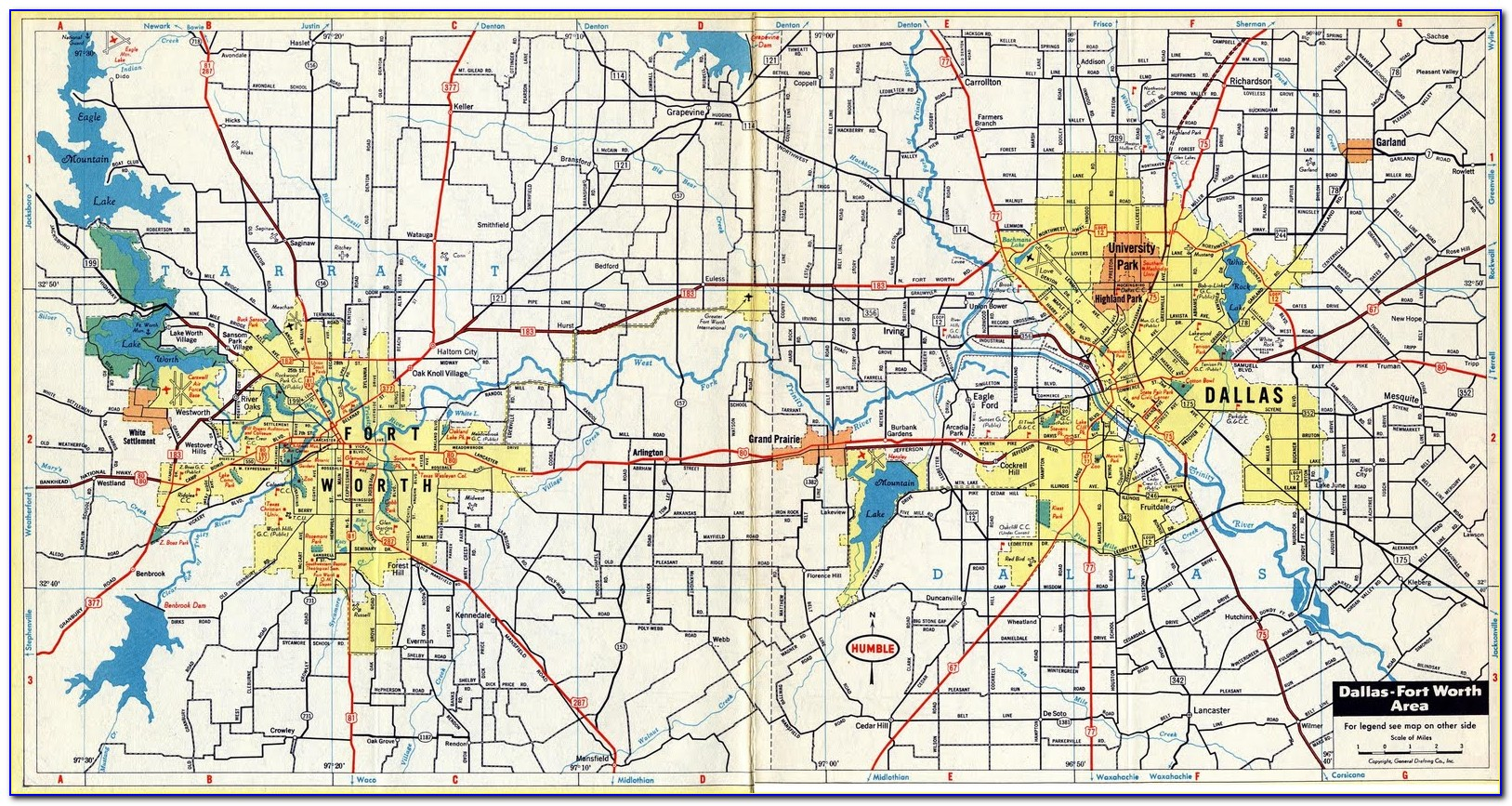 Google Map Of Dfw Metroplex