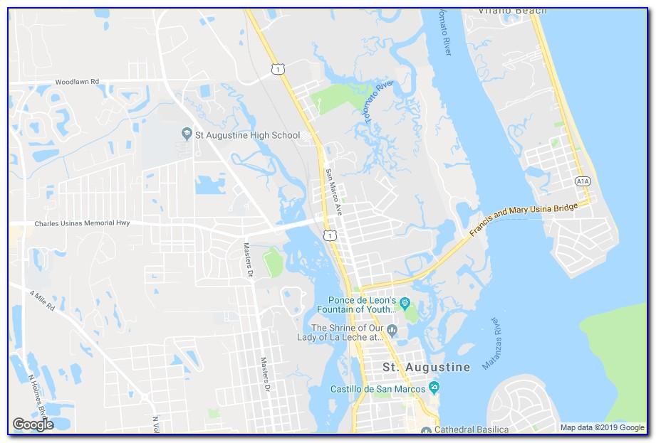 Google Map St Augustine Hotels