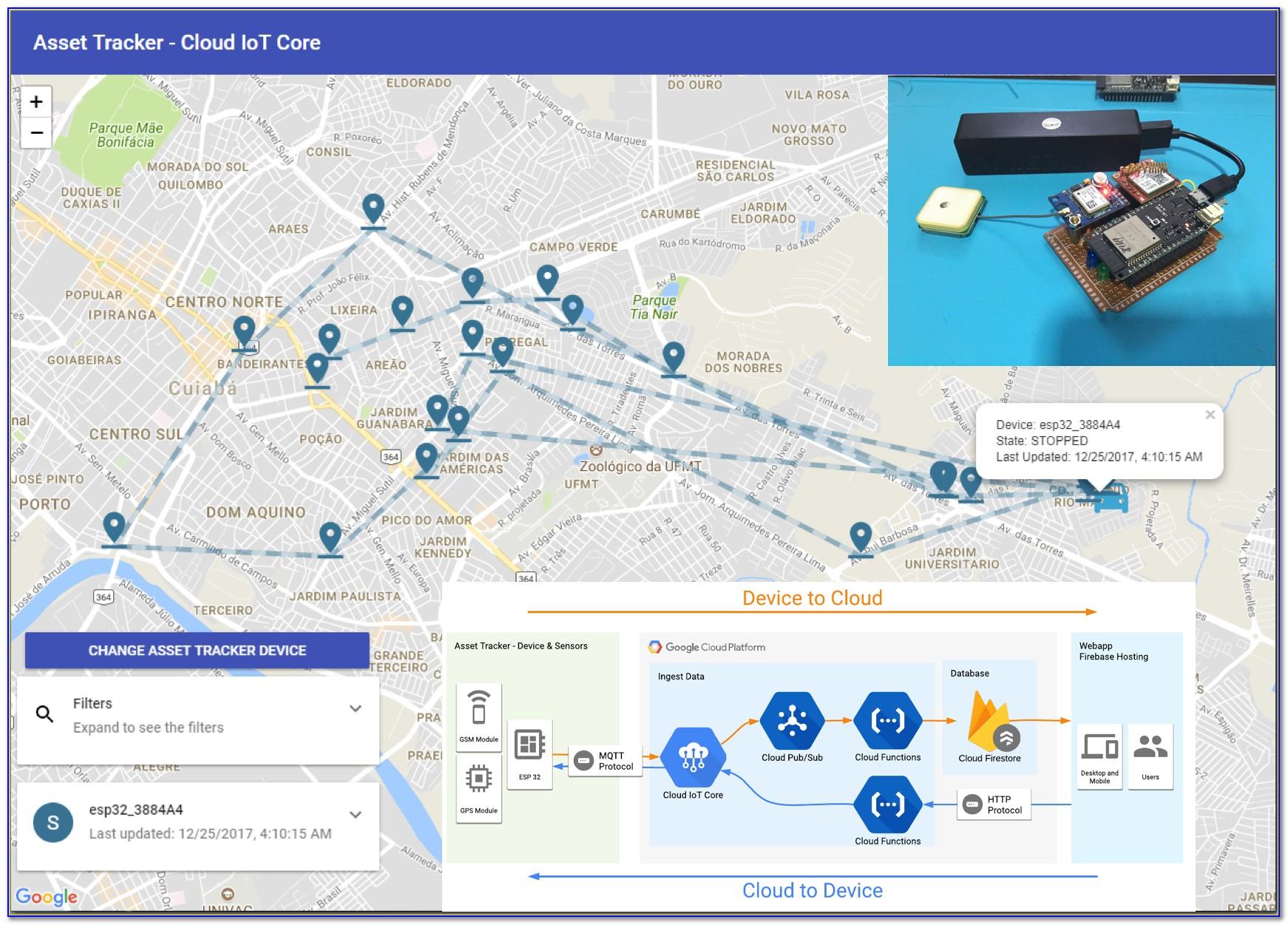 Google Maps Asset Tracking License