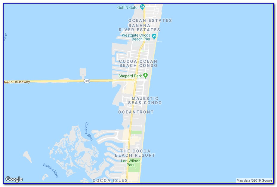 Google Maps Cocoa Beach Hotels