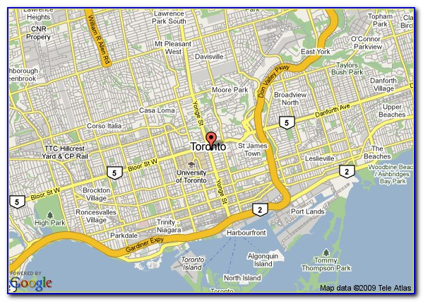Google Maps Downtown Toronto Hotels