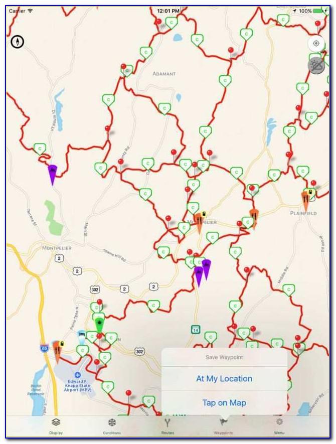 Snowmobile Trail Maps Gps Best Of Vermont Snowmobile Trails En App Store