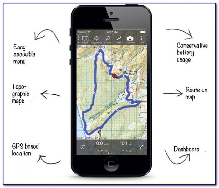 Gps With Topo Map