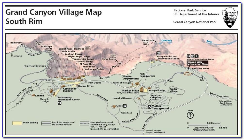 Grand Canyon Accommodations Map