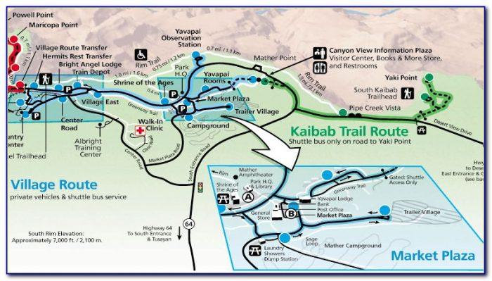 Grand Canyon Cabin Map