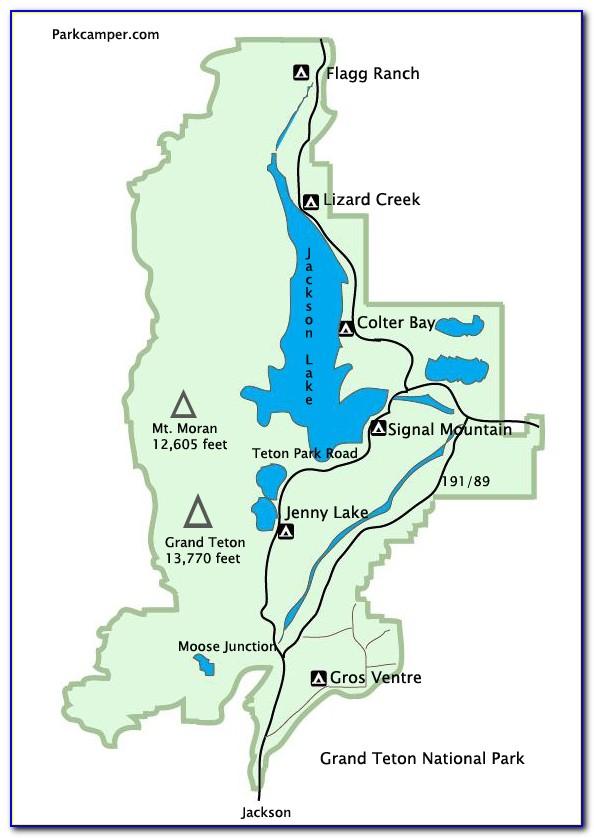 Grand Teton National Park Lodging Map
