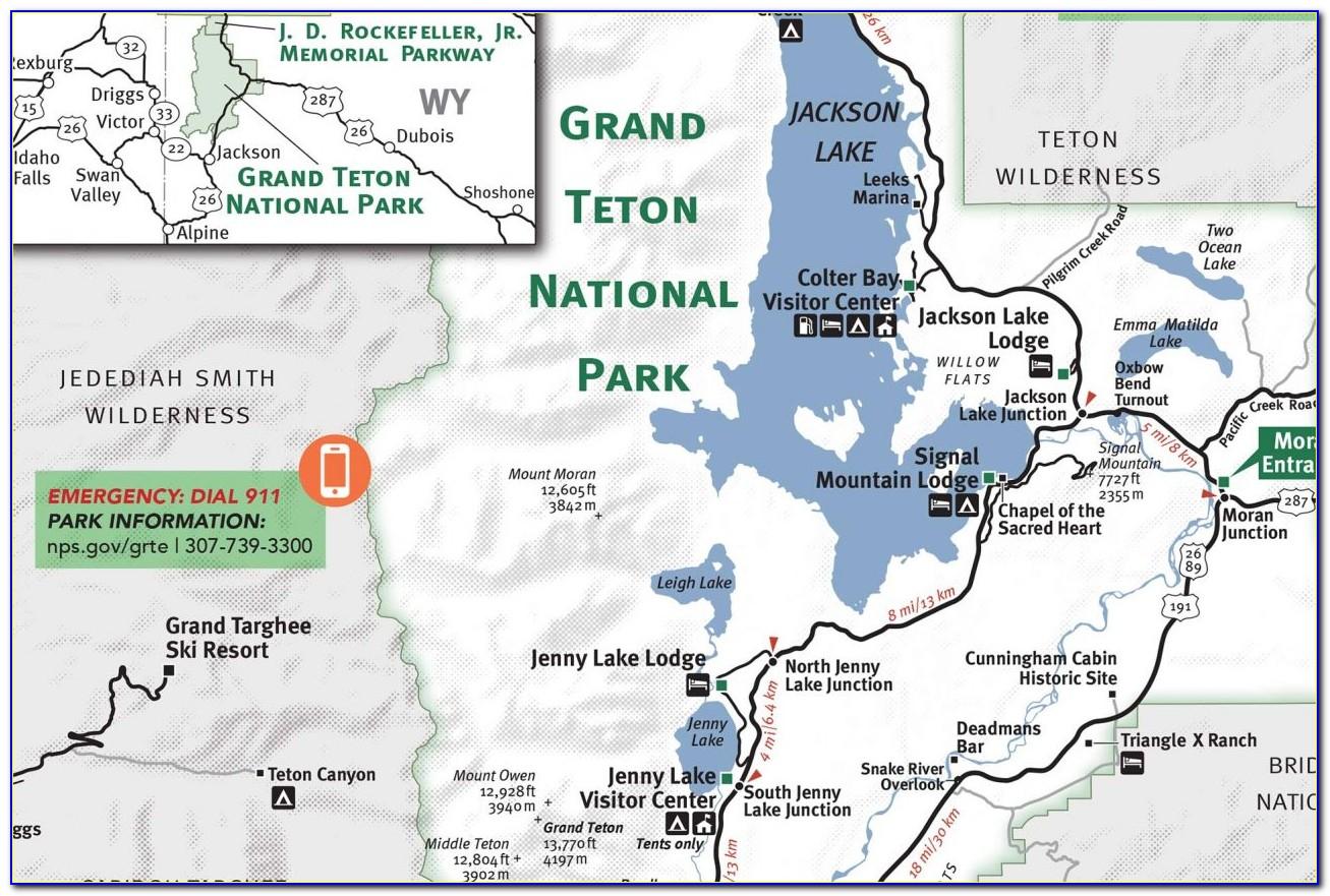 Grand Teton National Park Map Hiking Trails