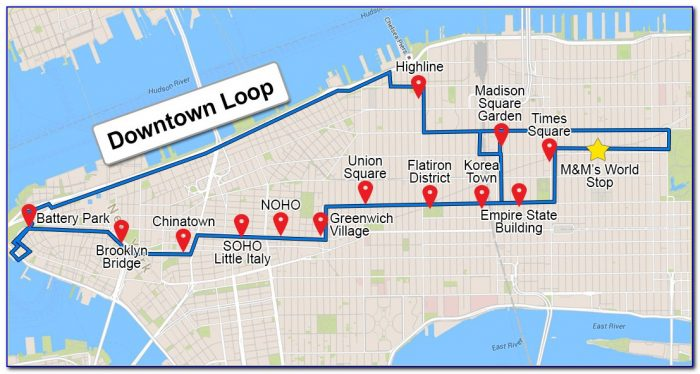 Gray Line New York Hop On Hop Off Bus Map