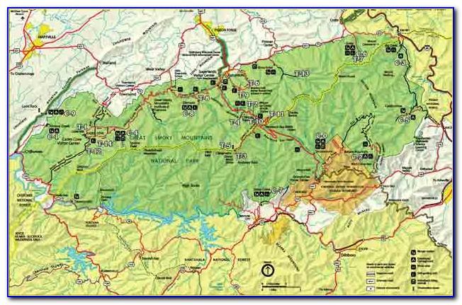 Great Smoky Mountain National Park Fishing Map