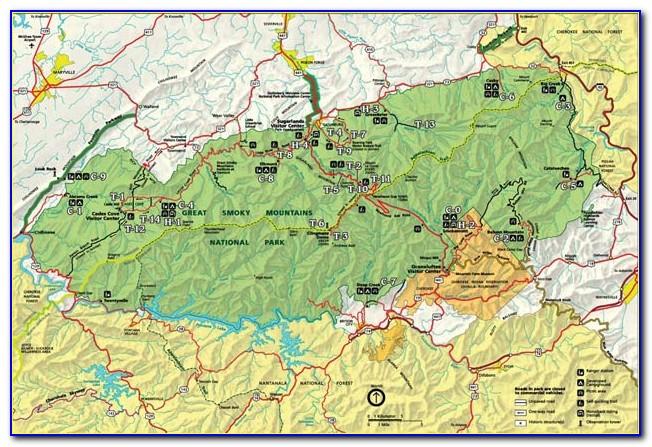 Great Smoky Mountain National Park Map Pdf