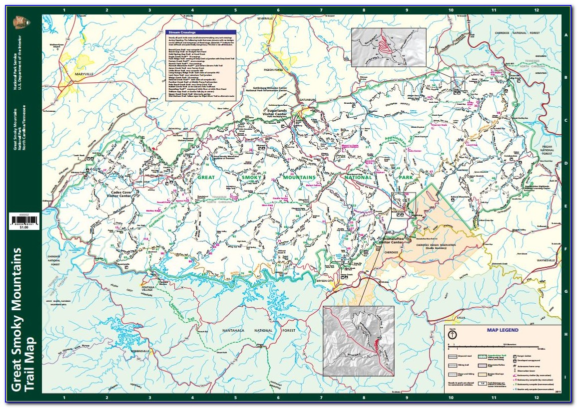 Great Smoky Mountains National Park Backcountry Map