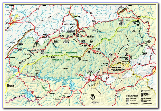 Great Smoky Mountains National Park Backcountry Trail Map