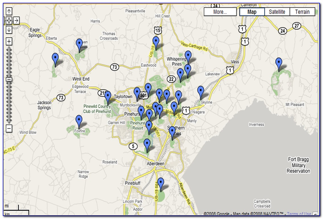 Greensboro Nc Golf Course Map