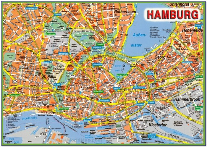 Hamburg City Center Map